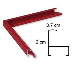 Cadre Aluminium Rouge Mat