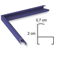 Cadre Aluminium Bleu Foncé Mat