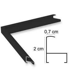 Cadre aluminium noir mat