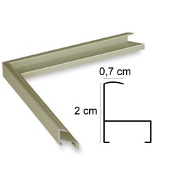 Cadre aluminium doré anodisé