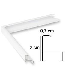 Cadre Aluminium Blanc Brillant